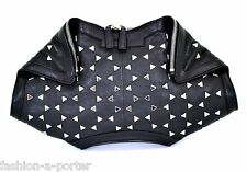ALEXANDER McQUEEN STUDDED BLACK LEATHER DE MANTA CLUTCH BAG BNWT