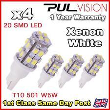 4 x white 20 SMD LED 501 T10 W5W côté / numéro / plaque lumière intérieure