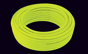 Hi-Viz Yellow Water Fed Pole Hose WFP 6mm ID x 100mtr coil