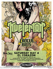 KVELERTAK / CANCER BATS 2013 SEATTLE CONCERT TOUR POSTER - Hardcore Punk, Metal
