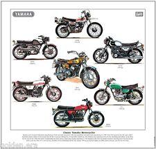 CLASSIC YAMAHA MOTORCYCLES - FINE ART PRINT - RD350 RD400 XS750 YDS3C YDS7 XT500