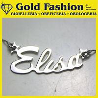 Collana MIO NOME in argento 925 con stelline o cuore