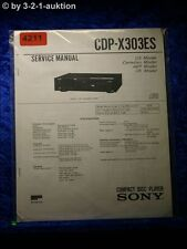 Sony Service Manual CDP X303ES CD Player (#4211)