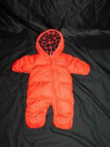 Columbia 0-3 Months Red Baby Snuggly Bunny Bunting Down Coat Newborn Snow Suit