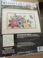 ROSES AND BUTTERFLIES NO COUNT CROSS STITCH KIT BY DIMENSIONS  - FROM 1991