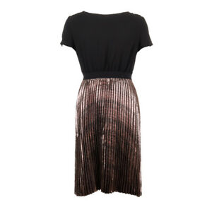 iBlues Max Mara Dress Black & Copper Pleated RRP £210 BG