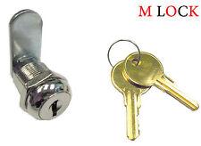 "1 1/8"" Flat Key Cam Lock Cabinet Enclosure Glass Case Mailbox Door Case Toolbox"