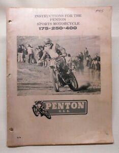 Vintage Penton 175 250 400 Shop Service Manual 1974 AHRMA Motocross Enduro KTM