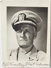Admiral Chester Nimitz World War II U.S Naval Commander Signed Photograph