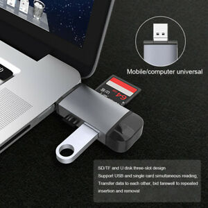 Micro USB OTG to USB 2.0 6 in 1Adapter SD/Micro SD Card with standard USB Male