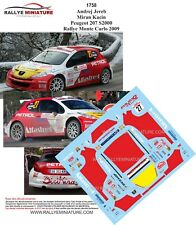 Decals 1/43 Ref 1758 Peugeot 207 S2000 Jereb Rally Mounted Carlo 2009 Irc Rally