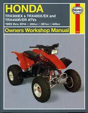Haynes Manual 2318 - Honda TRX300EX, TRX400EX & TRX450R/ER ATVs (93 - 14)