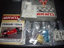 MERI KITS - FERRARI 126CK -GP  LONG BEACH 1981    REF MKS 012  1/43