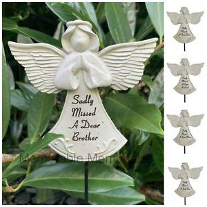 Praying Angel Memorial Stick Spike Stake Tribute Graveside Remembrance Garden