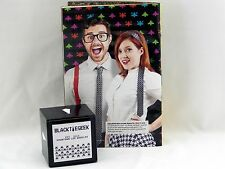 January LootCrate Exclusive Black Tie Geek Skinny Retro Arcade SPACE INVADERS