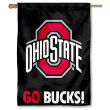 Ohio State Buckeyes OSU University College House Flag