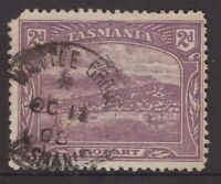 Tasmania WATTLE GROVE 1908 type 1b pmk on 2d pictorial rated S+ (6) by Hardinge