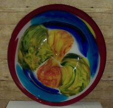 Art Glass Bowl  Dish Plate by SDS Seaport Group American Design Exquisite Piece