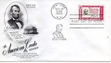 US FDC #1143 Lincoln Credo, ArtCraft (4912)