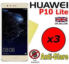 3x Hq Matte Anti Reflet Protecteur d'écran Cover Film Garde pour Huawei P10 Lite