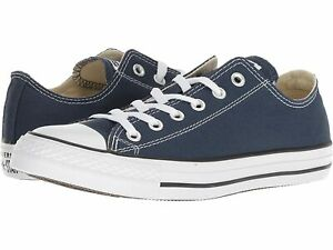 Converse Unisex All Star Chuck Taylor Low Top Navy Athletic Shoes Original New