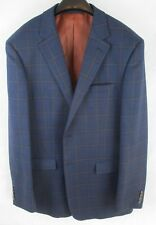 MENS SKOPES JACKET - Chest 42L - BLUE WITH SQUARE PATTERN - HARDLY USED