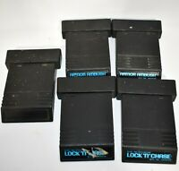 Atari 2600 Lot of 5 Video Games 2 Armor Ambush 2 Lock N Chase Unlabeled Untested