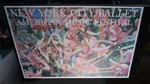 Vintage Offset Litho Print/Poster NYC Ballet 1988 James Rosenquist Pink Green