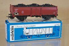 MARKLIN MäRKLIN 4604 DB COAL LOAD BROWN WAGON OFFNER GÜTERWAGEN 852226 BOXED ne