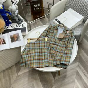 Burberry check college style suit dress