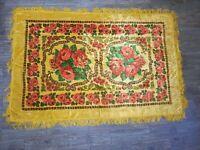 Vintage Wedding Velvet Bedspread Fringed tablecloth Bohemian Italian Boho #4