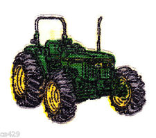 "1.5"" JOHN DEER GREEN TRACTOR FARM CHARACTER NOVELTY  FABRIC APPLIQUE IRON ON"