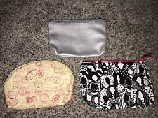 Lot Of 3 Makeup Cosmetic Travel Bags no makeup included...bags only