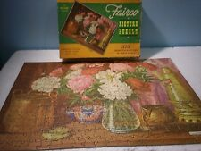 Fairco Picture Puzzle Peonies 375 Pcs 2 Missing 40's