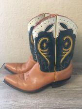 The Old Gringo Leather Inlay Cowboy Boots Women's 8 B Nice!!!