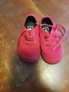 Vans Authentic Shoes Red Color Size 5.0. Toddler US