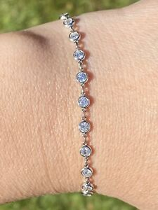 Sparkling Platinum Diamonds by the Yard Bracelet 2.3CTW SI1/G 6.5 Inches