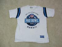 Reebok Pro Bowl Shirt Adult Large White Blue NFL Football Hawaii Mens 90s *