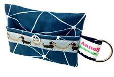 Kackbeutel Hundetüten Tasche Hundekotbeutel Spender Waste Bag blau splitter