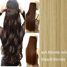 Professional Real Thick CLIP IN HAIR EXTENTIONS 3/4 FULL HEAD One Piece New td