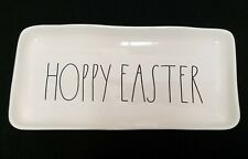 RAE DUNN HOPPY EASTER Platter Plate Tray 14 x 7 Artisan Collection MAGENTA happy