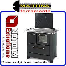 STUFA CUCINA A LEGNA NORDICA ROMANTICA 4,5 DX NERO ANTRACITE