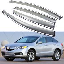 4x Car Window Visor Vent Deflector Sun/Rain Guards for Acura RDX 2013-2018