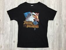 Vintage 80's Harley Davidson Eagle Graphic Single T-Shirt Size XXL