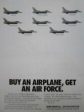 8/1990 PUB GENERAL DYNAMICS F-16 INTERCEPTOR USAF AGRESSOR RECONNAISSANCE AD