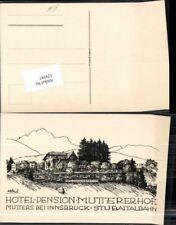 129597,Hotel Pension Muttererhof bei Mutters Innsbruck Stubaitalbahn sign Lötsch
