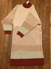 Nwt Callahan Anthropologie Womens Sweater Dress Large Chunky Knit Acrylic Stripe