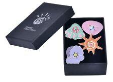 Pokemon Gym Silver Trim Badges: Gen 2 Orange Island set of 4 metal pin badges
