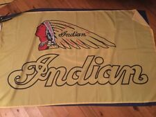 indian motor cycle flag poster games room print  mancave pool room INDIAN biker
