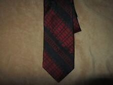 Vintage WIDE 54 Long 4 1/4 wide Mens Neck Tie Red Black Beau Brummell Striped